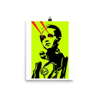 laserbeams poster 8×10